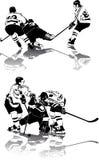 вычисляет льдед хоккея Стоковая Фотография RF