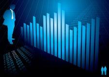 вычисляет финансовохозяйственную диаграмму Стоковое Изображение