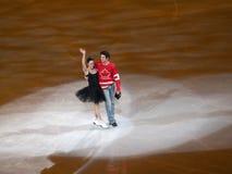 вычисляйте добродетеля moir олимпийского s катаясь на коньках t торжественного Стоковая Фотография