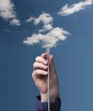 вычислять облака Стоковая Фотография
