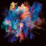 Вычисляя красочный взрыв выплеска краски стоковые изображения rf