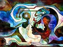 Вычисляя разделение цвета Стоковые Изображения