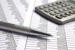 Вычисление дела финансов стоковое фото rf