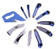 Вычисление ножей канцелярских принадлежностей вокруг Стоковое Изображение RF