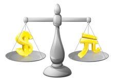 Вычисляет по маcштабу концепцию валюты бесплатная иллюстрация