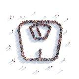 Вычисляет по маcштабу людей 3d диеты Бесплатная Иллюстрация