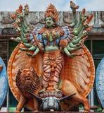 Вычисляйте на стене индусского виска Стоковые Изображения