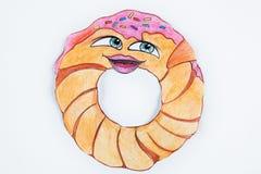 Вычисляйте очень вкусные свежие donuts на белой предпосылке иллюстрация штока