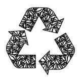 вычисляйте повторное пользование символа, уменьшайте и рециркулируйте значок бесплатная иллюстрация