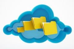 Вычислять и папки облака Стоковая Фотография RF