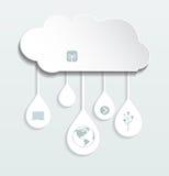 Вычислять облака чистого листа бумаги Стоковое Изображение