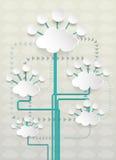 Вычислять облака чистого листа бумаги Стоковая Фотография RF