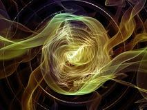 Вычисляя абстрактное визуализирование Стоковые Фото