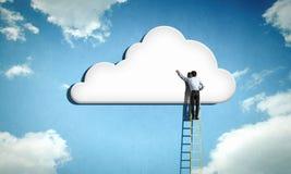 Вычисляя облако Стоковое Изображение RF