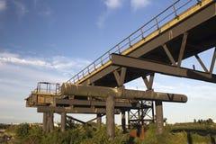 Вышедшая из употребления мола на заводи Holehaven, острове Canvey, Essex, Англии Стоковое Фото