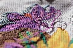 Вышивка иглы Стоковое Фото