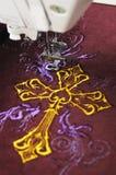 Вышивка машины стоковое изображение rf