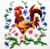 Вышивка, народные искусства и ремесла, handmade стоковое изображение rf