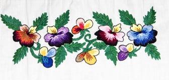 Вышивка, народные искусства и ремесла, handmade стоковые изображения rf
