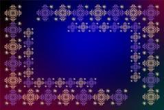 Вышивка на сини Стоковое фото RF