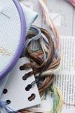 Вышивка (перекрестный стежок) Стоковые Изображения