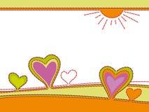 Вышивка сердец, абстрактная Стоковая Фотография RF