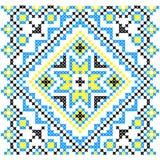 Вышивка Украинский национальный орнамент Стоковое фото RF