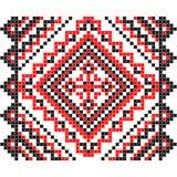 Вышивка Украинский национальный орнамент Стоковое Фото