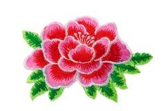 Вышивка, цветок, изолят Стоковая Фотография RF