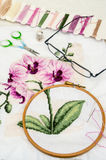 Вышивка стоковое изображение
