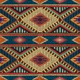 Вышитая безшовная геометрическая картина Орнамент для ковра Стоковые Фотографии RF