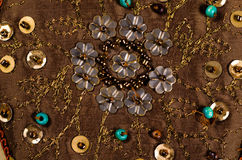Вышитая бисером ткань Стоковое Фото