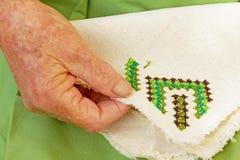 Вышитая вышивка крестиком Стоковые Изображения RF