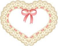 вышитая лента шнурка сердца Стоковое Изображение