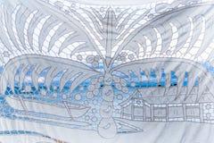 Вышитая скатерть Стоковое Изображение RF
