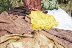 Вышитые ткани Стоковые Изображения RF
