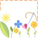 вышитые цветки Стоковое Изображение RF