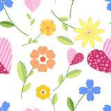 вышитые цветки Стоковое Фото