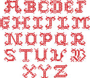 Вышитый алфавит Стоковое Изображение RF