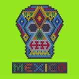 Вышитый бисером череп от Мексики Стоковые Фотографии RF