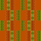 Вышитый bac картины вышивки крестиком ткани орнаментальный безшовный Стоковая Фотография RF