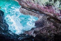 Выдалбливайте море рая голубое и рай релаксации неба на туризме пляжа стоковая фотография rf