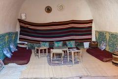 Выдалбливайте дом в matmata, Тунисе в пустыне Сахары Стоковое фото RF