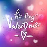 Вы будете моей валентинкой - каллиграфией для приглашения, приветствуя Стоковые Фотографии RF