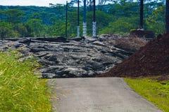 Выдвигаясь лава Стоковые Фотографии RF