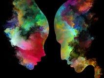 Выдвижение внутренних цветов Стоковые Изображения RF