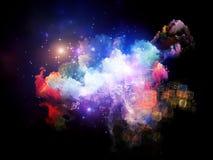 Выдвижение межзвёздных облаков дизайна Стоковая Фотография