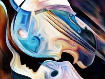 Выдвижение музыки Стоковое фото RF