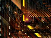 Выдвижение связей технологии Стоковое фото RF