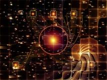 Выдвижение связей технологии Стоковое Изображение
